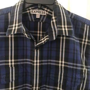 EXSPRESS 👔16-161/2 Large long sleeves check shirt
